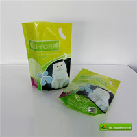 stand up plastic packaging bags food safe/reclosable standup plastic food bag