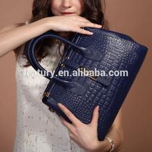 Exquisite Women Crocodile Leather Handbags 168 Royal Blue Desigual Bags