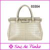 OEM woman animal skin handbag wholesale leather handbags