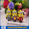 3D Cartoon USB,despicable me usb flash drive,minion soft pvc usb flash memory free sample &rubber cartoon USB 100% Full Capacity