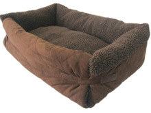 folded pet bed with blanket