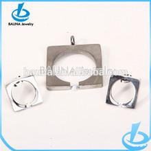 Fashion simple square silver jewelry