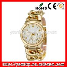 Unique design fashion perfect quartz japan movement gold mens watch