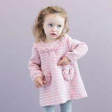 DB1585 dave bella 2014 autumn baby toddler clothing wholesale baby dress wholesale children's boutique cloth