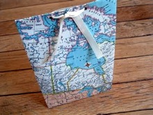 Special map design paper bag