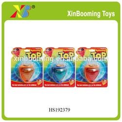 Flashing peg top,pull line spinning top