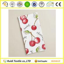 Promotion 100% Cotton Cherry Cherries Printed Kitchen Towel,Fruit Print Towel