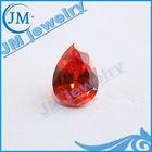 Shining Large Size Orange Pear Cut CZ Jewelry