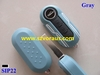 Gray Flip Remote Key Case Shell for Fiat 500 PANDA Replacement Folding Combo Shell