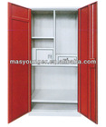 Double door metal cupboard, steel bedroom wardrobe