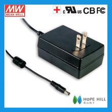 Meanwell GSM36U12-P1J 36W 12V 3A USA Medical Adaptor