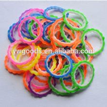 Beaded gear shaped Bulk elastic loom bands DIY bulk rubber bands