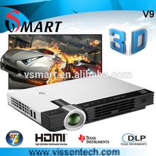 Vissontech portable multimedia DLP+LED Mini with 3D VGA USB port video projector glasses
