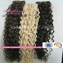Wholesale Cheap Virgin Indian Remy Hair Weave, Honey Blonde Curly Weave Hair