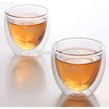 Transparent Handmade Borosilicate Double Glass Cup 200ML,Mouth Blown Borosilciate Glass/Double Glass Cups,Glass shots