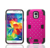 2014 Best quality phone shell for samsung galaxy s5 hard shell case cover shell for galaxy s5 (rose/black)