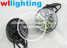 Daytime Running 4 LED Round DRL Light 2x Auto Car Day Driving Bulb Fog Light Lamp 12V