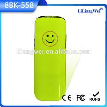 2014 Fashion smile design wholesale power bank for macbook pro /ipad mini with flashlight