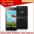 Hot sale 5.0'' thl 4400 MTK6582 Quad Core Android 4.2 8MP camera original thl phone