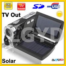 DV008+, 2.8 inch 5.0 Mega pixels Solar Energy 4X Zoom DV Digital Video Camera, Max pixels: 12 Mega pixels (Interpolation)