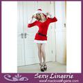 ml8029 caliente venta santa navidad para adultos traje de terciopelo santa mujer traje