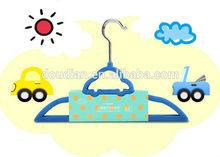 Art Creative Children's Clothes Hangers / Colorful Flocked Hangers