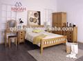 306 estilo rústico sólido roble blanco americano 3 cabecera del cajón/mesilla de noche
