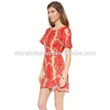 2014 nueva llegada el precio de fábrica de pestañas transparente estilos sexy vestido de día para la mujer de moda prendas de vestir dama
