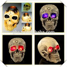 High quality 3d model resin halloween skull for halloween decor