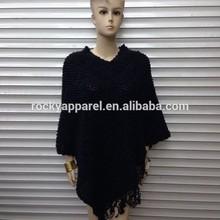 European fashion knit wool winter cape coat