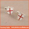 Soft Enamel England Knights Templar Cuff Link English ST George Cross Flag Shield Cufflinks
