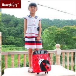New High-quality kids trolley school bag for girls