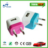 hottest! mini colorful decorative cell phone charger travel charger