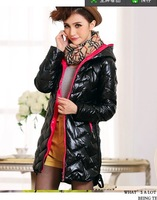 2014 new designed warm cheap light soft women feather down winter coats
