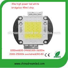 China factory,High lumin,super quality,30w cob led bridgelux chip