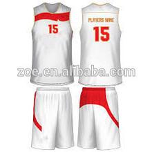 Wholesale cheap basketball wear , polyester reversible basketball unifotm