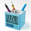 penholder calendar digital world clock