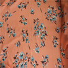 spandex crepe georgette printed fabric/flower chiffon materials for lady dress