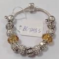 liga de cobre contas de vidro bracelete