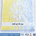 35 * 76 cm del bordado yarn100 % toalla de algodón de rizo de la tela