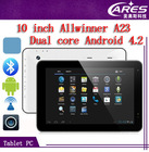 wholesale china cheapest 10 inch google android 4.2 dual core tablet pc android A23 bluetooth MID tablet pc manufactures