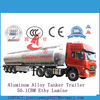 49500Litres aluminum Octane transport trailer fuel aluminum tanker semi trailer