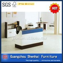 elegant style hot sale melamine reception desk