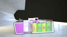 Purple Latest Design LAKA Nail Bar for Shopping Mall Center