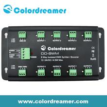 Colordreamer 8 Ways DMX LED Splitter DMX Booster Light Control System