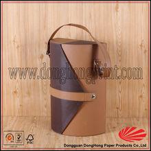 Unique design single bottle leather tote wine box
