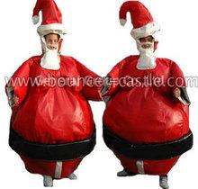 2014 venda quente papai noel inflável de sumô ternos, chrismas/decoração de natal,/chrismas brinquedos de natal
