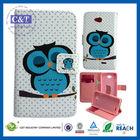 C&T Owl Flip Polka Dot tablet leather Case for lg l90