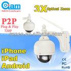 video 3x mini wifi camera outdoor waterproof zoom