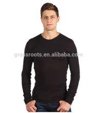 MT-001 Latest design wholesale long sleeve black man t shirt
